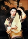 Chinese Oil Painting - Maiden Playing Pipa  #38
