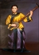 Chinese Oil Painting - Maiden Playing SanXian #52