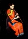 Chinese Oil Painting - Maiden Playing Xiao #53