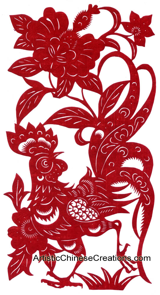 Chinese Zodiac Paper Cuts Rooster Chinese Zodiac Symbols