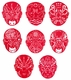 Chinese Paper Cuts - Chinese Opera Masks (Set of 8) #344