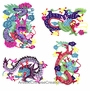Chinese Paper Cuts  - Dragon Symbols (Set of 4) #8