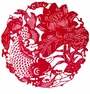 Chinese Paper Cuts - Fish & Lotus #7
