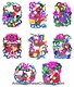 Chinese Paper Cuts - Happy Couple (Set of 8) #320