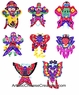 Chinese Paper Cuts - Kites (Set of 8) #5