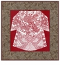 Chinese Paper Cuts (Mounted with Brocade Borders) - Imperial Dragon Robe #3