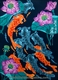 Chinese Peasant Painting - Lotus & Fish #33