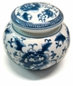 Chinese Porcelain Tea Canister - Flowers