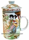 Chinese Porcelain Tea Cup (with Lid & Removable Strainer) - Chinese Beauty #13