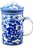 Chinese Porcelain Tea Cup (with Lid & Removable Strainer) -  Good Fortune  #20