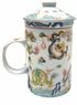 Chinese Porcelain Tea Cup (with Lid & Removable Strainer) � Dragons  #23