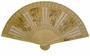 Chinese Sandalwood Fan - Four Flowers