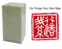 Chinese Seal Stamp - Do Things Your Own Way #48