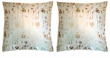 Chinese Silk Cushion Covers - Calligraphy (Pair) #39