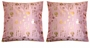Chinese Silk Cushion Covers - Calligraphy Symbols  (Pair) #40