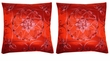 Chinese Silk Cushion Covers - Embroidered Flowers #112 (pair)