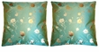Chinese Silk Cushion Covers - Flowers (Pair) #38