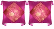 Chinese Silk Cushion Covers - Wealth Flowers (Pair) #30