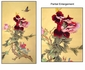 Chinese Silk GongBi Painting - Peony & Butterfly #33