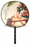 Chinese Silk Hand Fans with Handles