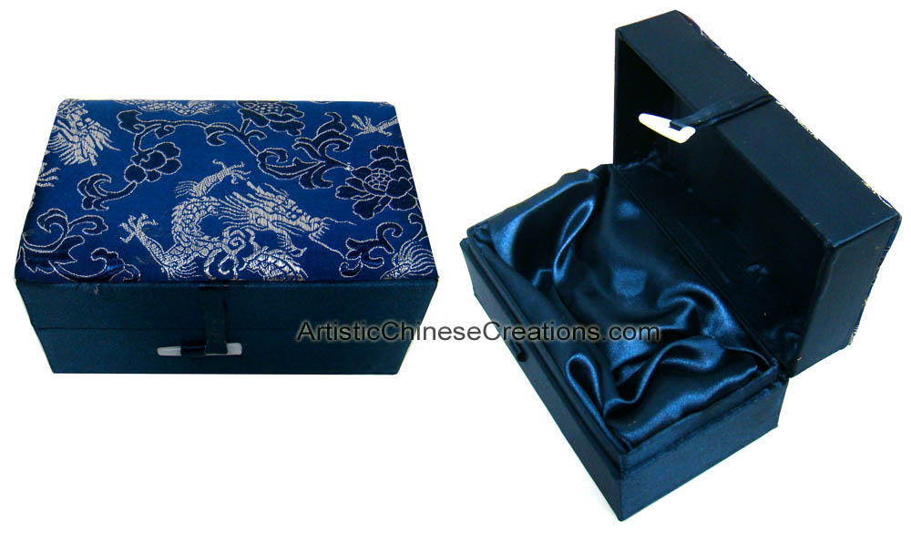 Chinese Silk Jewelry Box Dragons Oriental Jewelry Boxes Asian