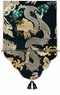 Chinese Silk Table Runner - Dragon Symbol #35