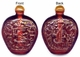 Chinese Snuff Bottle - Engraved Good Fortune, Wealth, Longevity Symbols #26