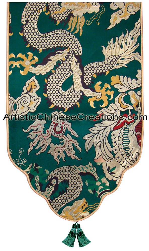 Click To Enlarge Chinese Silk Table Runner ...