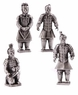 Chinese Terracotta Warriors - Pewter Alloy Set (Set of 4) #11