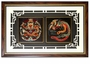 Chinese Wall Decor / Framed Art - Dragon & Phoenix Embroidery