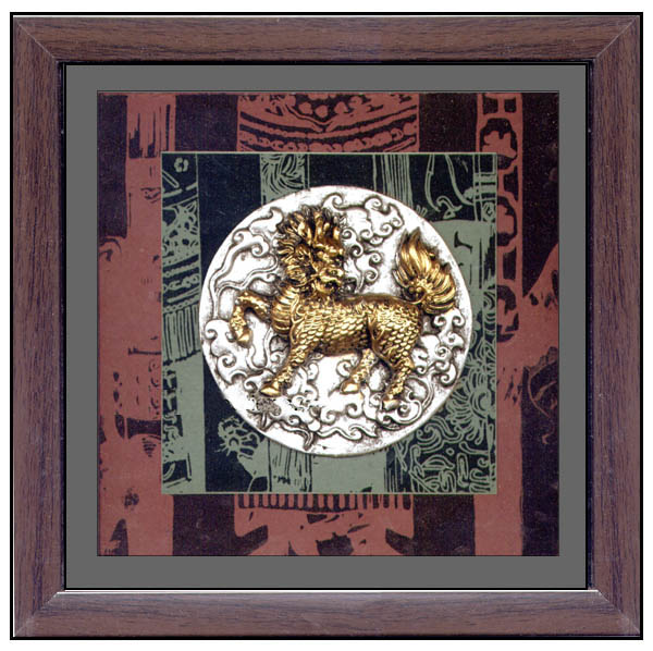 Gold chinese dragons framed nfl players on steroids