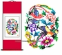 Chinese Wall Scroll - Paper Cuts / Happy Couple #9