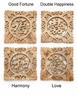Chinese Wood Carving - Calligraphy Symbol Wall Plaques