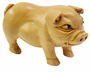 Chinese Wood Carving / Zodiac Symbol - Boar