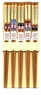 Chinese Wood Chopsticks - Chinese Opera (5 Pairs) #1
