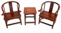 Chinese Wood Miniature Dollhouse Furniture Set (Set of 3) #5