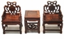 Chinese Wood Miniature Dollhouse Furniture Set (Set of 3) #11