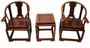 Chinese Wood Miniature Dollhouse Furniture Set (Set of 3) #9