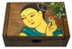Chinese Wooden Jewelry Box - Maiden  #95