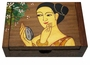 Chinese Wooden Jewelry Box - Maiden  #98