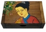 Chinese Wooden Jewelry Box - Maiden  #99
