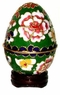 Cloisonne Egg - Flowers #12