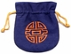 Embroidered Chinese Draw String Pouch - Good Fortune #3