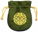 Embroidered Chinese Draw String Pouch - Good Fortune #4