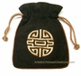 Embroidered Chinese Draw String Pouch - Good Fortune #7
