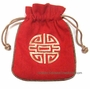 Embroidered Chinese Draw String Pouch - Good Fortune #8