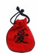 Embroidered Chinese Draw String Pouch - Love #10