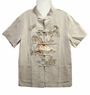Embroidered Men's Blouse - Dragon #5