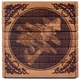Engraved Chinese Bamboo Coaster - Longevity #27