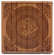Engraved Chinese Bamboo Coaster - Wealth #24